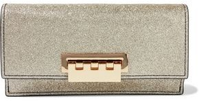 Zac Posen Earthette Glittered Leather Clutch
