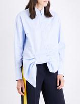 Victoria Victoria Beckham Tuxedo bow-detail cotton shirt