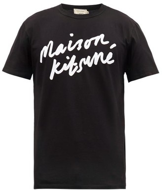 MAISON KITSUNÉ Logo-print Cotton T-shirt - Black