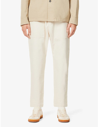 Barena Trabaco cropped tapered cotton-twill trousers
