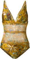 Zimmermann floral one-piece swimsuit - women - Polyamide/Spandex/Elastane - 0