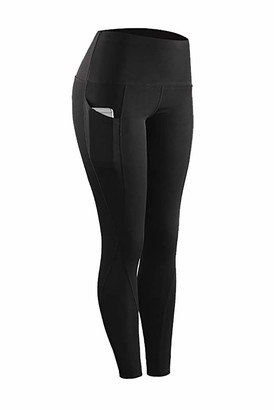 Nooobterrm Fitness Sports Leggings Women Yoga Pants Trousers High Waist Workout Running Tights With Pockets(M
