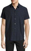 Theory Zack S. Geo-Jacquard Short-Sleeve Shirt, Multi