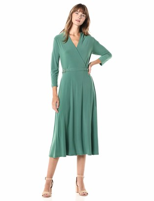 Chaus Women's Long Sleeve Belted Dress