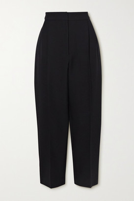 Alexander McQueen Cropped Wool-blend Tapered Pants - Black