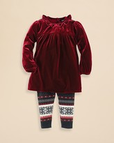 Ralph Lauren Infant Girls' Velvet Tunic & Legging Set - Sizes 9-24 Months