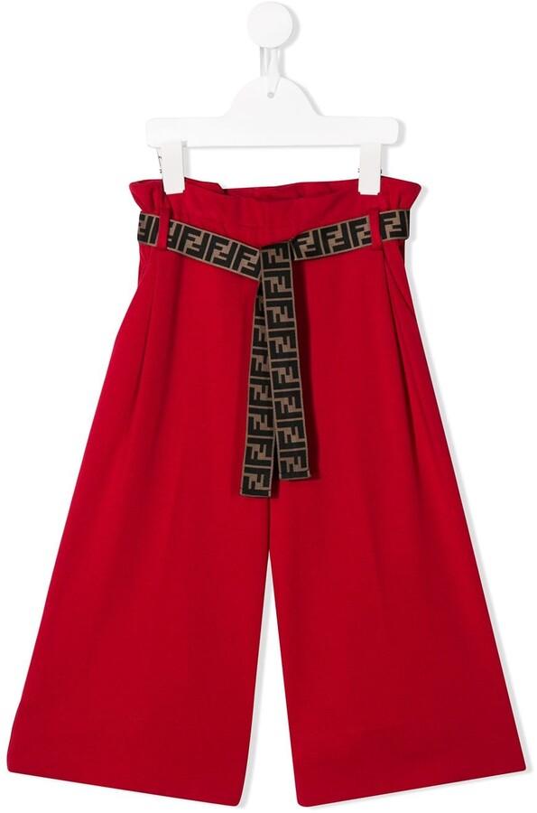 Fendi flare-styled trousers