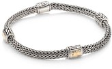 John Hardy Classic Chain Hammered 18K Yellow Gold & Sterling Silver Four-Station Extra-Small Bracelet