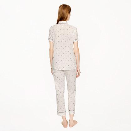 J.Crew Vintage short-sleeve pajama set in split dot