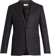 Saint Laurent Striped single-breasted wool blazer