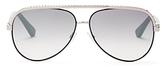 Jimmy Choo Mirrored Aviator Sunglasses, 59mm