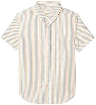 crewcuts by J.Crew Short Sleeve Button-Down Shirt Oxford (Toddler/Little Kids/Big Kids) (Rainbow) Boy's Clothing