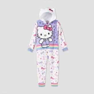 Hello Kitty Girls' Blanket Sleeper Union Suit -