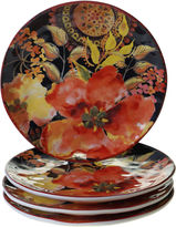 Certified International Watercolor Poppies 4-pc. Dessert Plate