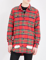 Off-White Spray-effect check-print cotton shirt
