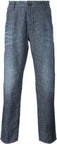 Armani Jeans straight leg jeans - men - Cotton/Linen/Flax - 46
