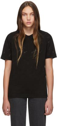 Stella McCartney Black Devore Monogram T-Shirt