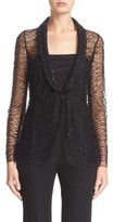 Armani Collezioni Women's Embellished One-Button Jacket