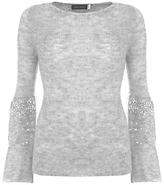 Mint Velvet Sequin Sleeve Knit Jumper