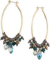 Nakamol Mixed Crystal Open Marquise Hoop Earrings