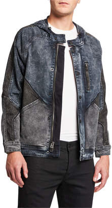 True Religion Men's Dylan Hooded Denim Jacket