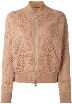 Alexander McQueen textured jacquard bomber jacket