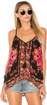 Band of Gypsies Scarf Print Swing Cami in Orange. - size M (also in XS)
