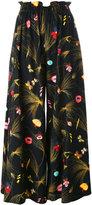 Fendi floral print pleated trousers - women - Viscose - 42