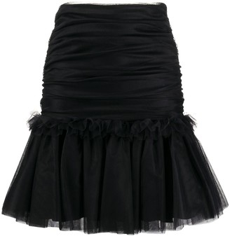 BROGNANO Tulle Ruffled-Hem Skirt