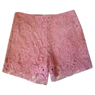 American Retro Pink Cotton Shorts for Women