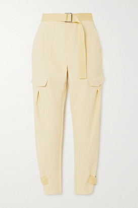 HOLZWEILER Skunk Belted Cotton-blend Cargo Pants - Yellow
