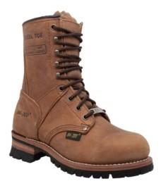 """AdTec Women's 9"""" Steel Toe Logger Boot Women's Shoes"""