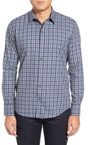 Zachary Prell Men's Zachary Plaid Mclaughlin Trim Fit Plaid Sport Shirt