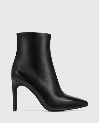 Wittner - Women's Black Boots - Havina Patent Leather Pointed Toe Ankle Boots - Size One Size, 37 at The Iconic