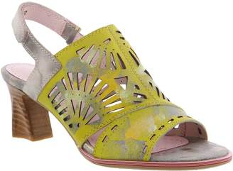 Spring Step L'Artiste by Leather Slingback Sandals - Luetta