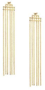 Jules Smith Designs Women's Disco Fringe 14K Yellow Goldplated Statement Earrings