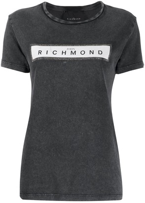 John Richmond crew neck logo printed T-shirt