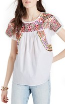 Madewell Women's Springtime Embroidered Cotton Top