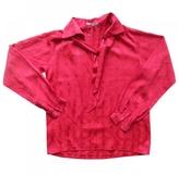 Saint Laurent Red Silk Top