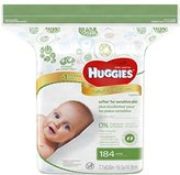 Huggies Natural Care Fragrance Free Baby Wipes, 184 Count