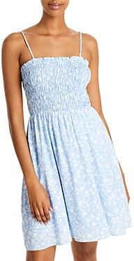 Aqua Ditsy Floral Smocked Dress - 100% Exclusive