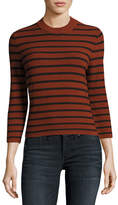 Theory Lemdora Prosecco Striped Sweater, Red