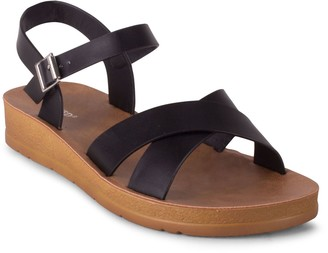 Wanted Adjustable Cross Strap Sandals - Johanna