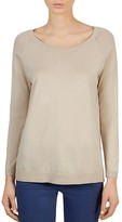 Gerard Darel Alix Mixed Media Pullover Sweater