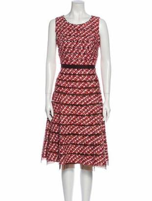 Oscar de la Renta 2011 Midi Length Dress Red