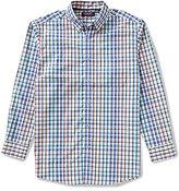 Roundtree & Yorke Trademark Big & Tall Long-Sleeve Multi Check Buttondown Sportshirt