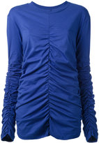 MSGM crumpled effect top - women - Cotton - S