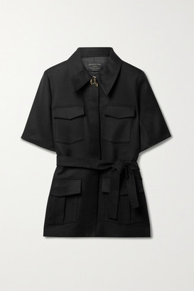 Mother of Pearl + Net Sustain Taylor Belted Tencel Lyocell And Organic Cotton-blend Jacket - Black