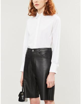 Claudie Pierlot Chaoe cotton-blend broderie collar shirt