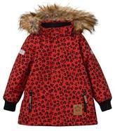 Mini Rodini Siberia Leopard Jacket Red